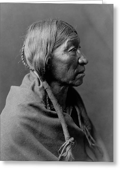 Braids Greeting Cards - Cheyenne Indian Woman circa 1910 Greeting Card by Aged Pixel