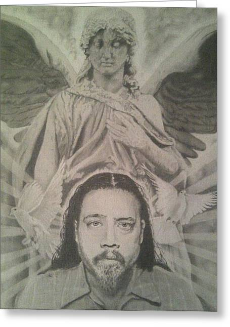 Tombstone Drawings Greeting Cards - Chi Greeting Card by Asev One