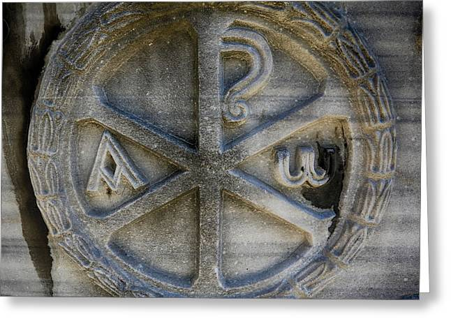 Alpha And Omega Greeting Cards - Chi Rho Greeting Card by Stephen Stookey