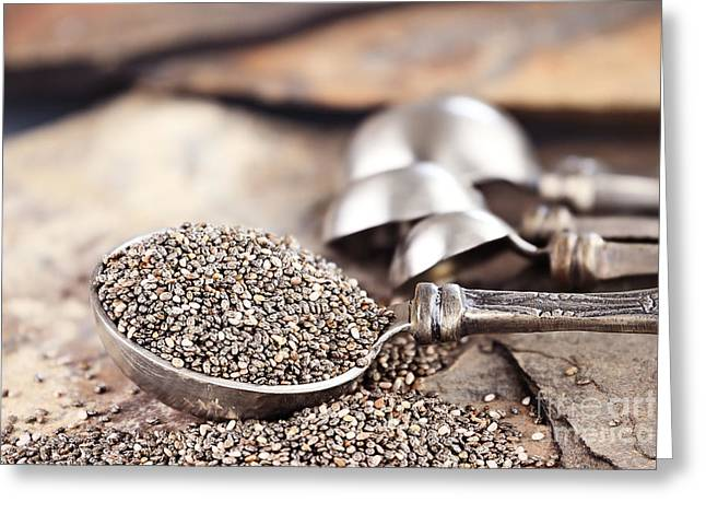 Close To People Greeting Cards - Chia Seeds Greeting Card by Stephanie Frey