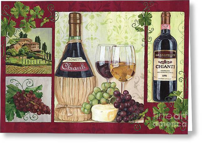 Beverage Greeting Cards - Chianti and Friends 2 Greeting Card by Debbie DeWitt