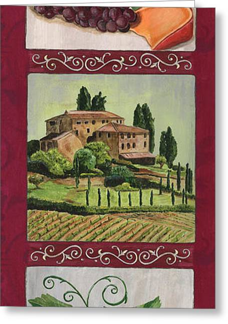 Celebration Paintings Greeting Cards - Chianti and Friends Collage 1 Greeting Card by Debbie DeWitt
