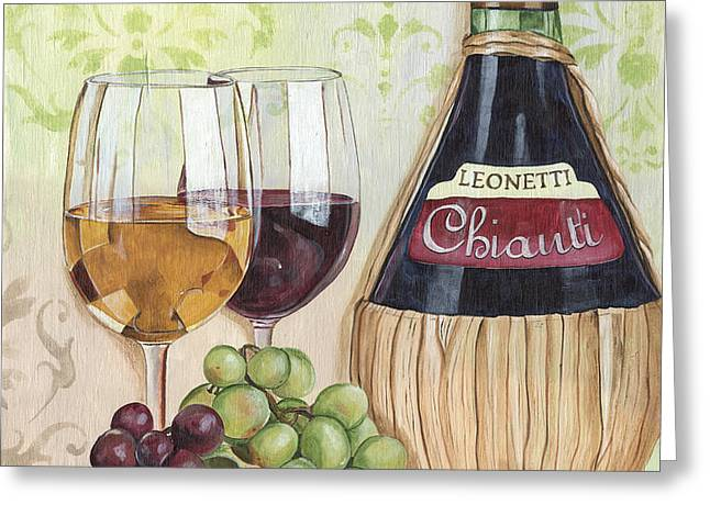 Chianti and Friends Greeting Card by Debbie DeWitt