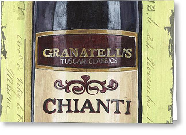 Chianti and Friends Panel 1 Greeting Card by Debbie DeWitt