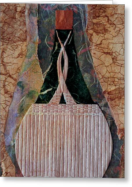 Italian Kitchen Mixed Media Greeting Cards - Chianti Greeting Card by Catherine Sprague