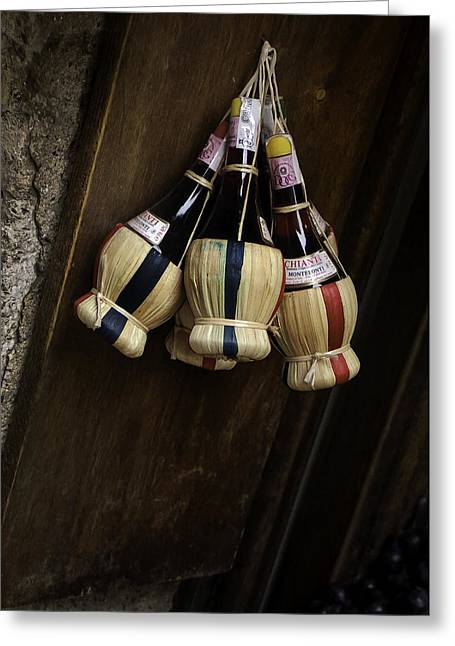 Flagon Greeting Cards - Chianti Greeting Card by Curtis Dale