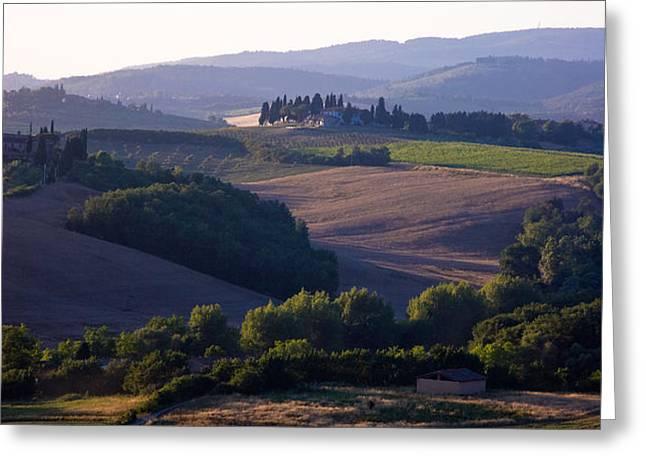 Chianti Hills in Tuscany Greeting Card by Mathew Lodge