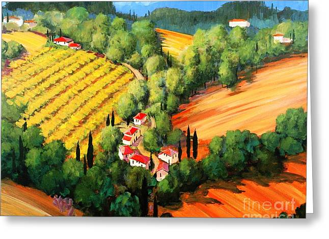 Chianti Greeting Cards - Chianti Road Greeting Card by Michael Swanson