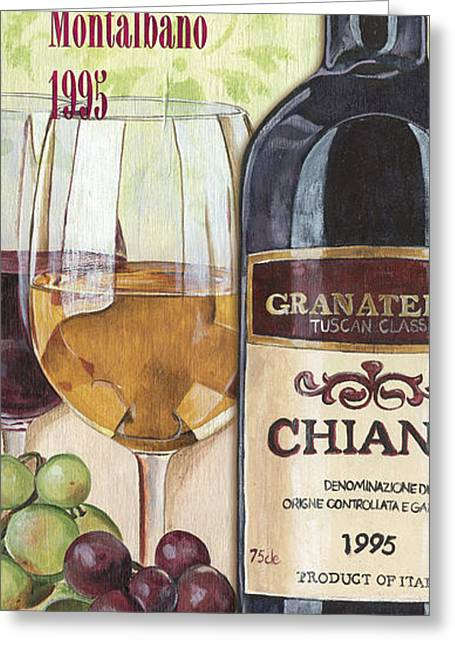 Cocktails Greeting Cards - Chianti Rufina Greeting Card by Debbie DeWitt