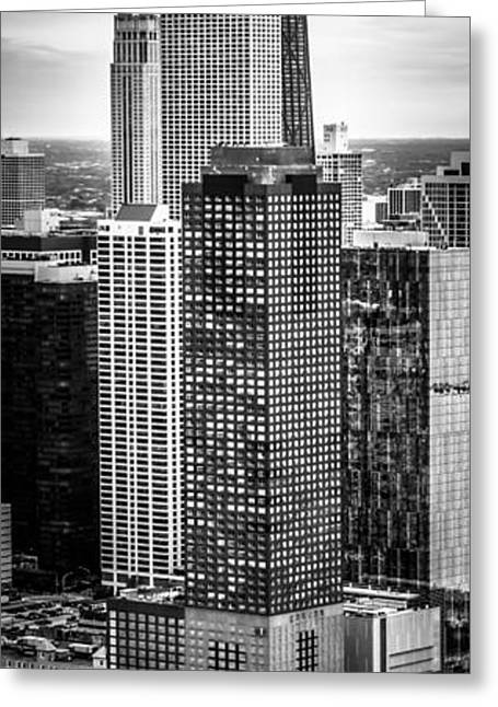 Chicago Prints Greeting Cards - Chicago Aerial Vertical Panorama Photo Greeting Card by Paul Velgos