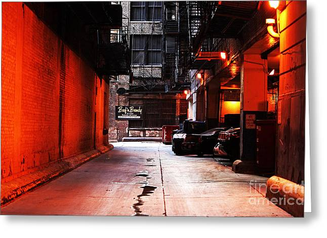 Chicago Artist Greeting Cards - Chicago Alley Greeting Card by John Rizzuto