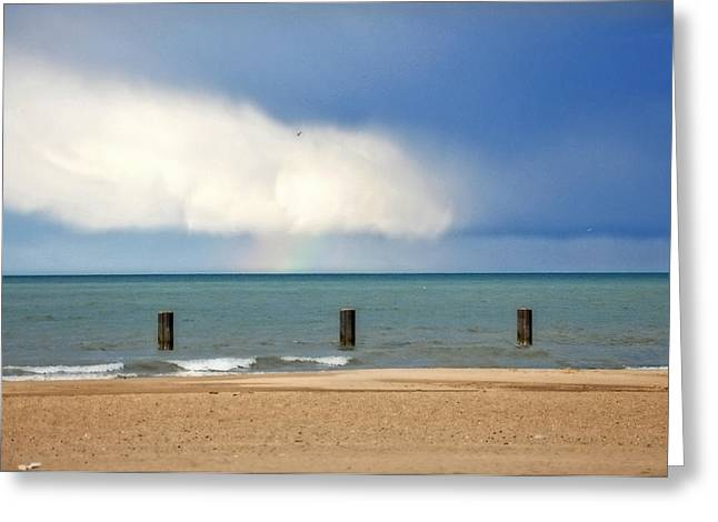 Peaceful Scenery Greeting Cards - Chicago beach Greeting Card by Annie Slentz