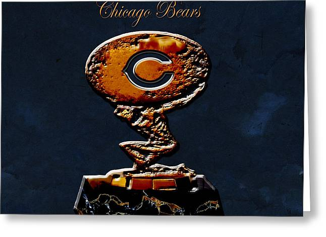 Sayers Greeting Cards - Chicago Bears Greeting Card by Brian Reaves