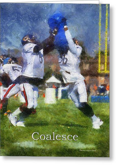 Chicago Bears Coalesce At Training Camp 2014 Pa 02 Greeting Card by Thomas Woolworth