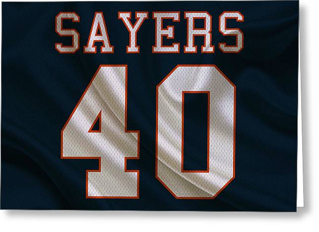 Gale Sayers Greeting Cards - Chicago Bears Gale Sayers Greeting Card by Joe Hamilton