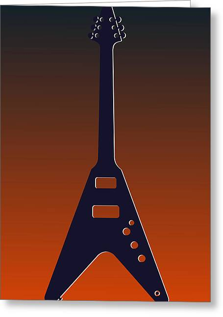 Concert Bands Photographs Greeting Cards - Chicago Bears Guitar Greeting Card by Joe Hamilton