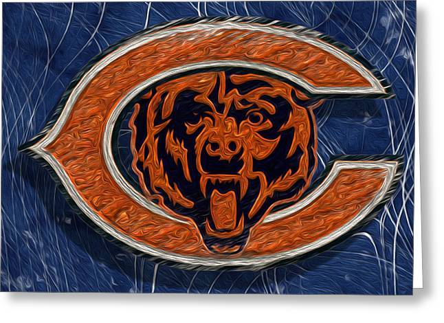 Pro Football Digital Greeting Cards - Chicago Bears Greeting Card by Jack Zulli