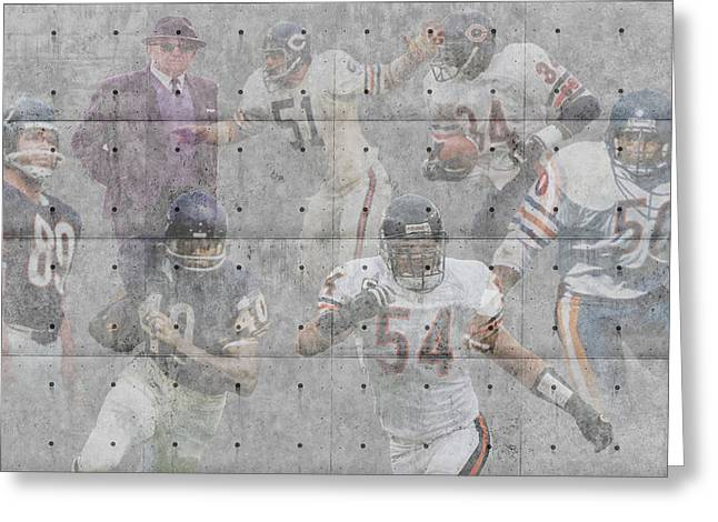 Offense Greeting Cards - Chicago Bears Legends Greeting Card by Joe Hamilton