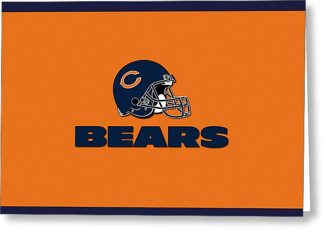 Pro Football Mixed Media Greeting Cards - Chicago Bears Greeting Card by Marvin Blaine