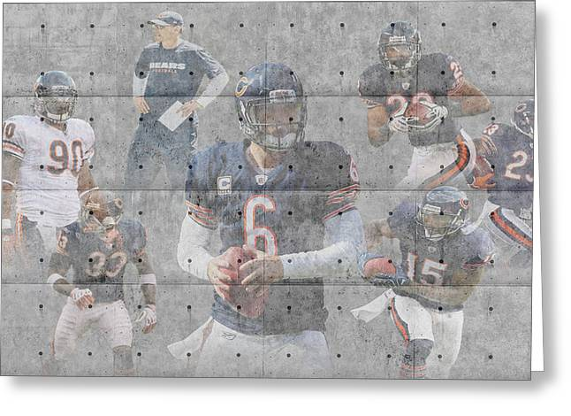 Offense Greeting Cards - Chicago Bears Team Greeting Card by Joe Hamilton