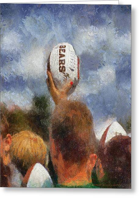 Autographed Art Digital Art Greeting Cards - Chicago Bears Training Camp 2014 Autograph Time Greeting Card by Thomas Woolworth