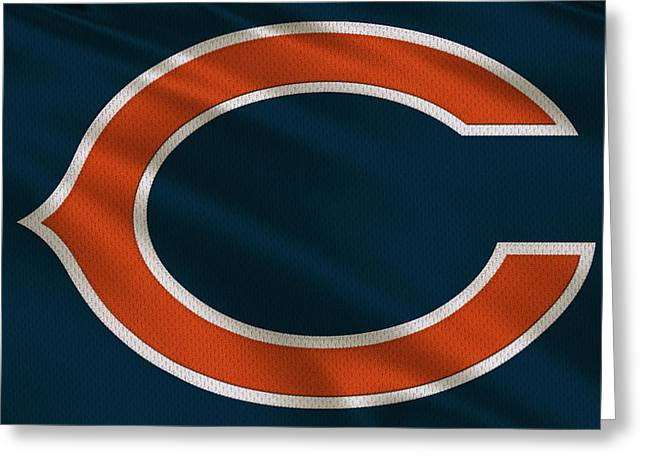 Chicago Bears Greeting Cards - Chicago Bears Uniform Greeting Card by Joe Hamilton