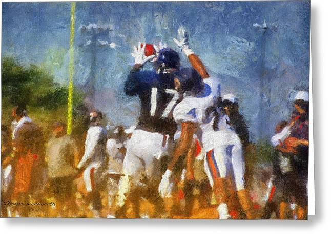 Chicago Bears Wr Alshon Jeffery Training Camp 2014 Photo Art 02 Greeting Card by Thomas Woolworth