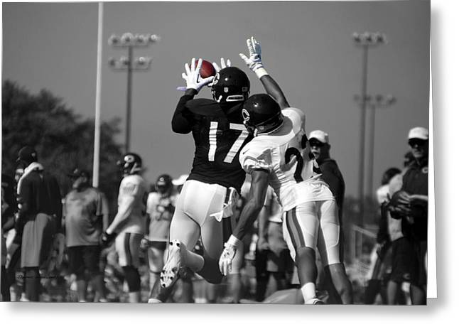 Chicago Bears Wr Alshon Jeffery Training Camp 2014 Sc Greeting Card by Thomas Woolworth