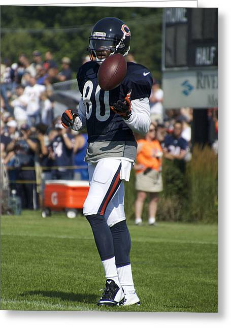 Chicago Bears Wr Armanti Edwards Training Camp 2014 02 Greeting Card by Thomas Woolworth