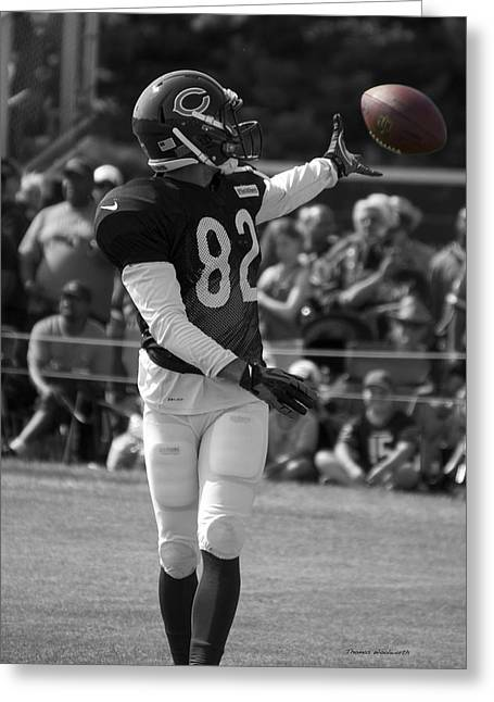 Chicago Bears Wr Chris Williams Training Camp 2014 Sc Greeting Card by Thomas Woolworth