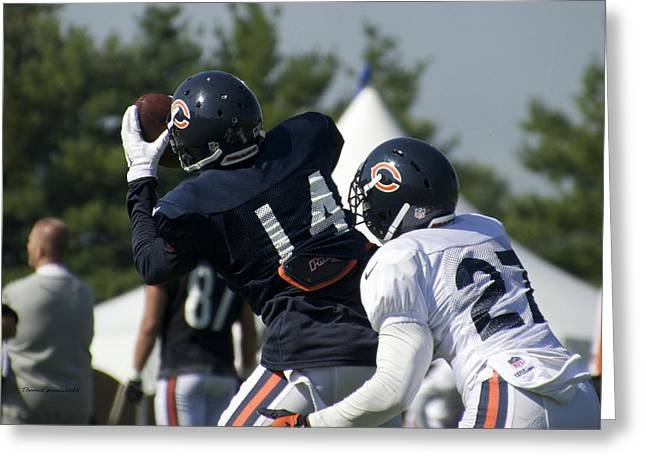 Chicago Bears Wr Eric Weems Training Camp 2014 05 Greeting Card by Thomas Woolworth