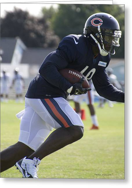 Chicago Bears Wr Micheal Spurlock Training Camp 2014 03 Greeting Card by Thomas Woolworth