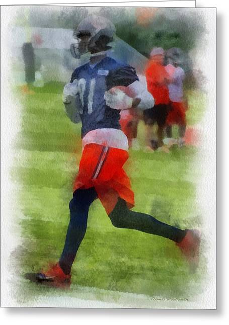 Chicago Bears Wr Terrence Toliver Training Camp 2014 Pa 01 Greeting Card by Thomas Woolworth
