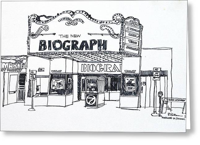Chicago Biograph Theater Greeting Card by Robert Birkenes