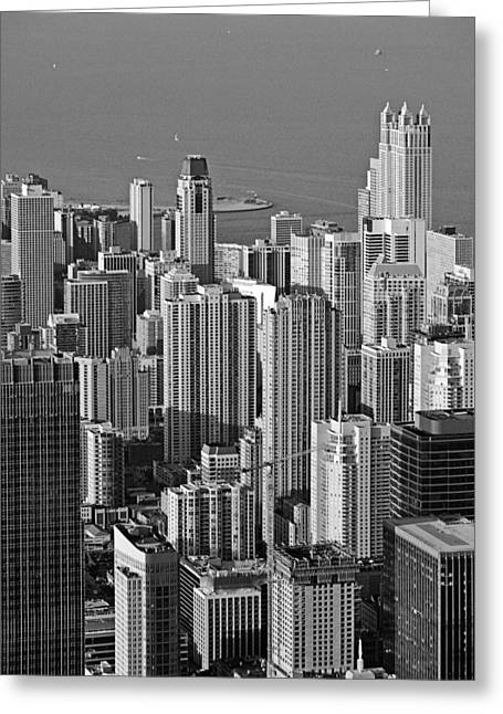 Above Greeting Cards - Chicago - Birds-Eye-View Greeting Card by Christine Till