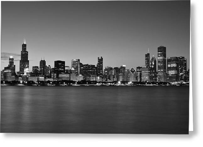 The Bean Greeting Cards - Chicago Black And White   Greeting Card by Frozen in Time Fine Art Photography