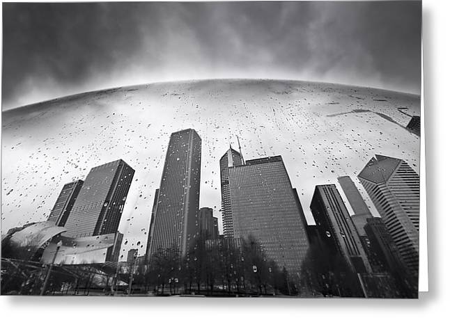 The Bean Greeting Cards - Chicago Black and White Photography Greeting Card by Dapixara Art