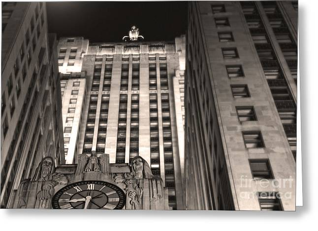 Chicago Board Of Trade Building 03 Greeting Card by Gregory Dyer