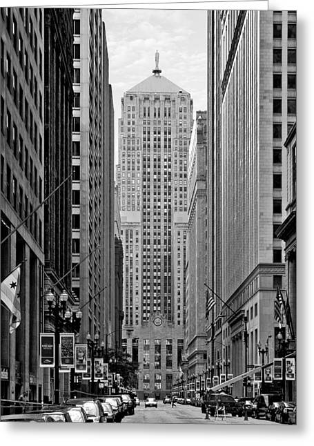 Lasalle Greeting Cards - Chicago Board of Trade Greeting Card by Christine Till