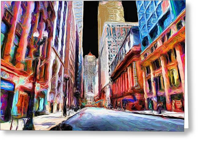 Chicago Board Of Trade Greeting Cards - Chicago Board of Trade  Greeting Card by Ely Arsha