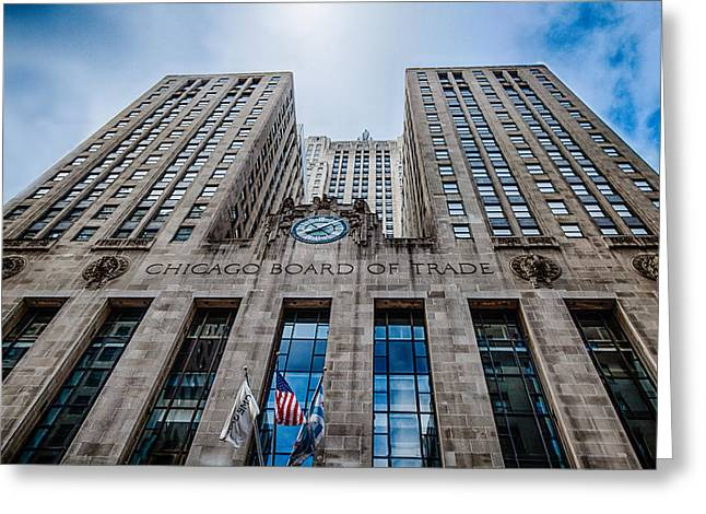 Chicago Board Of Trade Greeting Cards - Chicago Board of Trade Greeting Card by Mike Burgquist