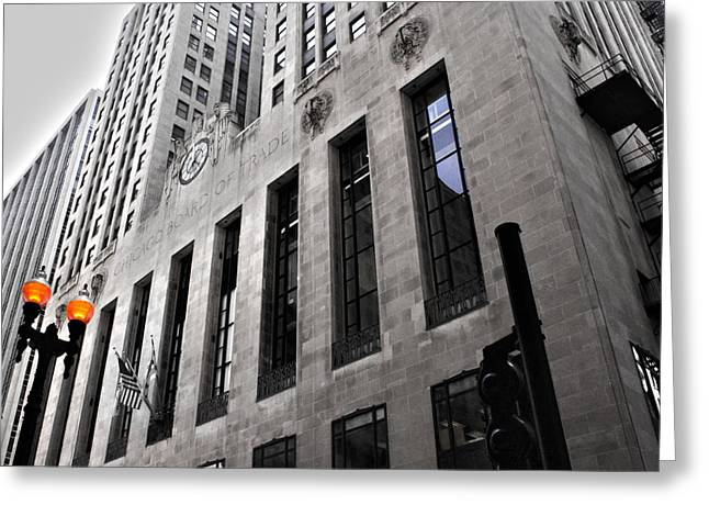 Chicago Board Of Trade Greeting Cards - Chicago Board of Trade Greeting Card by Paul Anderson