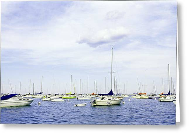 Chicago Landscape Greeting Cards - Chicago Boat Life Greeting Card by Jon Neidert