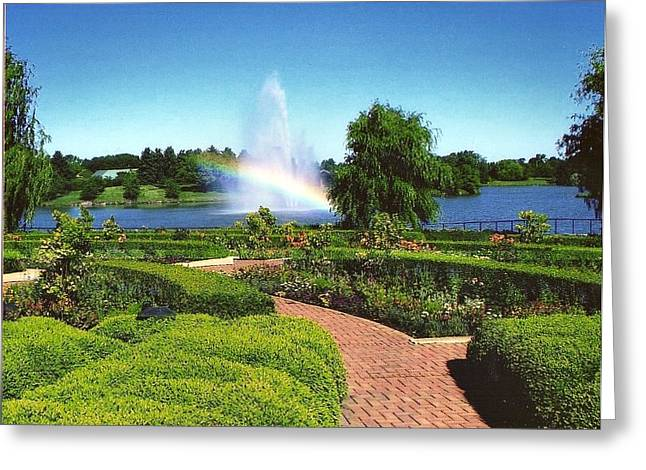 Rainbow Pyrography Greeting Cards - Chicago Botanic Garden Greeting Card by Mick ODay