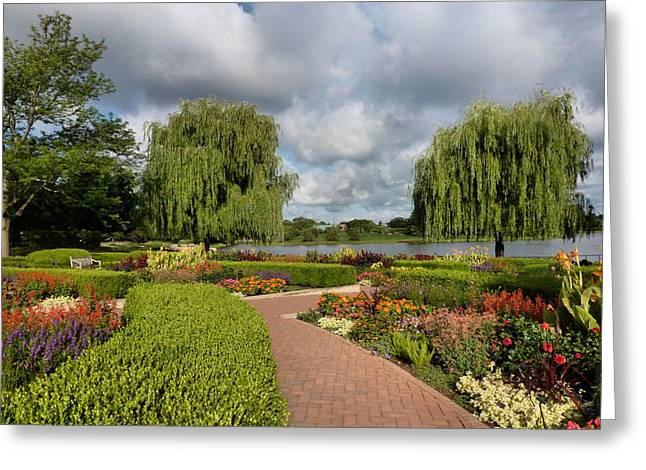 Weeping Greeting Cards - Chicago Botanical Gardens - 97 Greeting Card by Ely Arsha