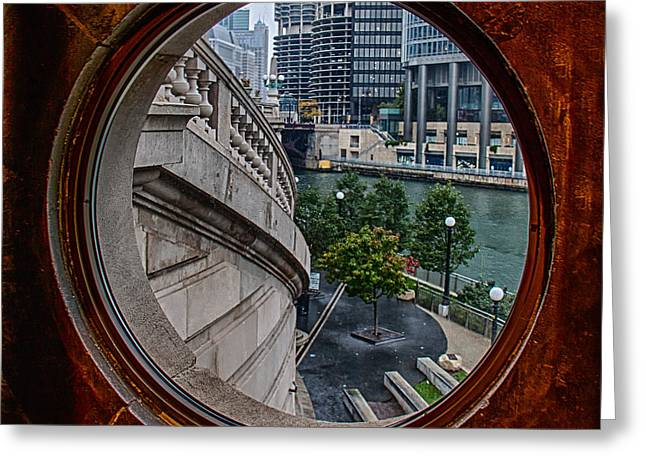 View. Chicago Greeting Cards - Chicago Bridge Museum Greeting Card by Mike Burgquist