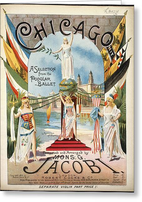 Chicago Greeting Card by British Library
