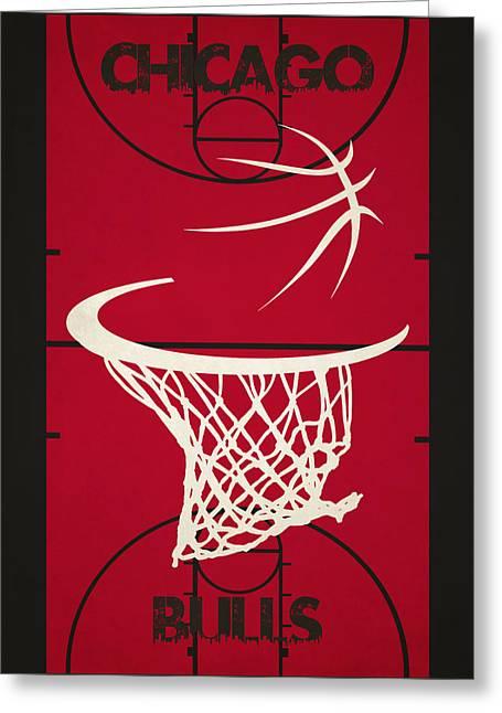 Chicago Bulls Photographs Greeting Cards - Chicago Bulls Court Greeting Card by Joe Hamilton