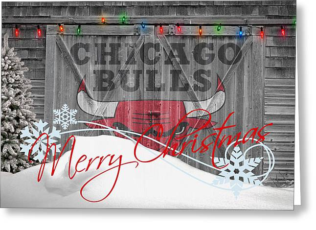 Dunk Photographs Greeting Cards - Chicago Bulls Greeting Card by Joe Hamilton