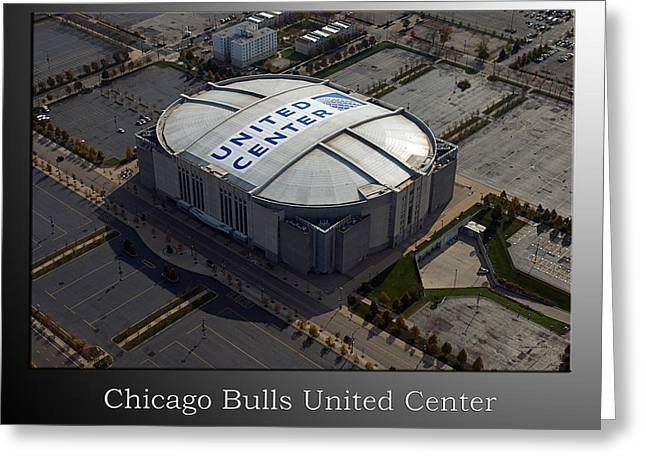 Chicago Bulls Mixed Media Greeting Cards - Chicago Bulls United Center Greeting Card by Thomas Woolworth